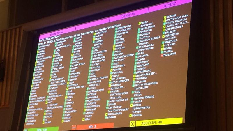 First Committee vote on UNGA resolution on cluster munitions (c) Dinka Dumičić